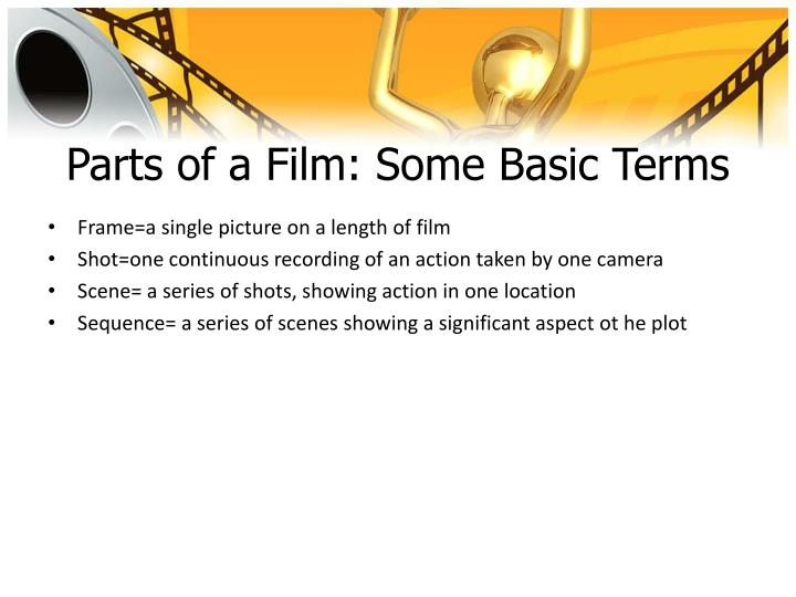 Parts of a Film: Some Basic Terms