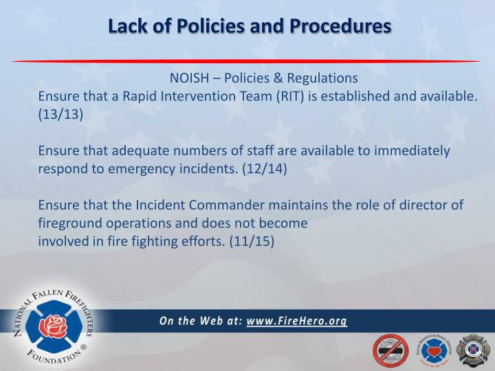 Lack of Policies and Procedures