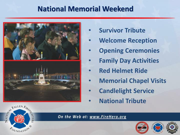 National Memorial Weekend