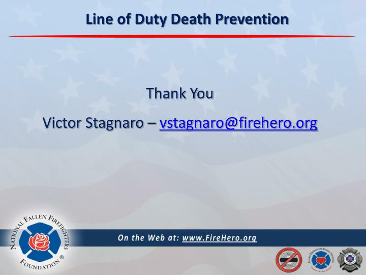 Line of Duty Death Prevention