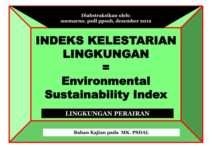 Indeks kelestarian lingkungan environmental sustainability index