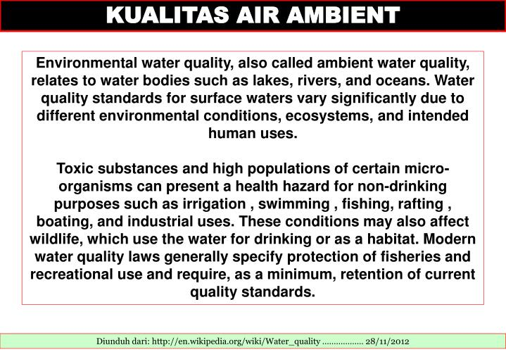 KUALITAS AIR AMBIENT