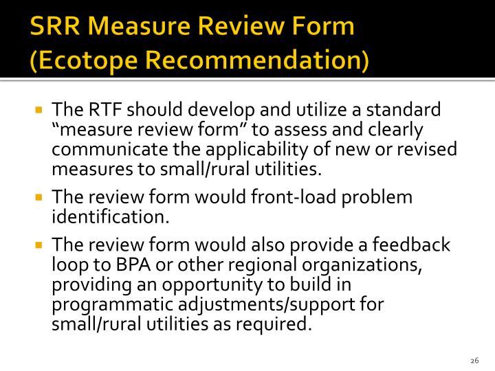 SRR Measure Review Form