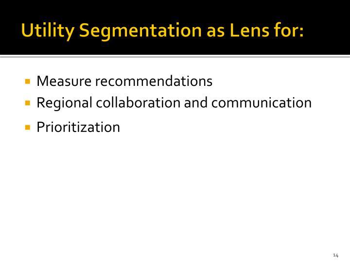 Utility Segmentation as Lens for: