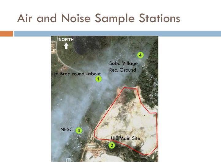 Air and Noise Sample Stations