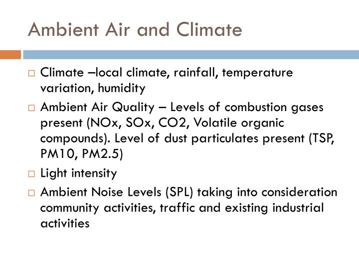 Ambient Air and Climate