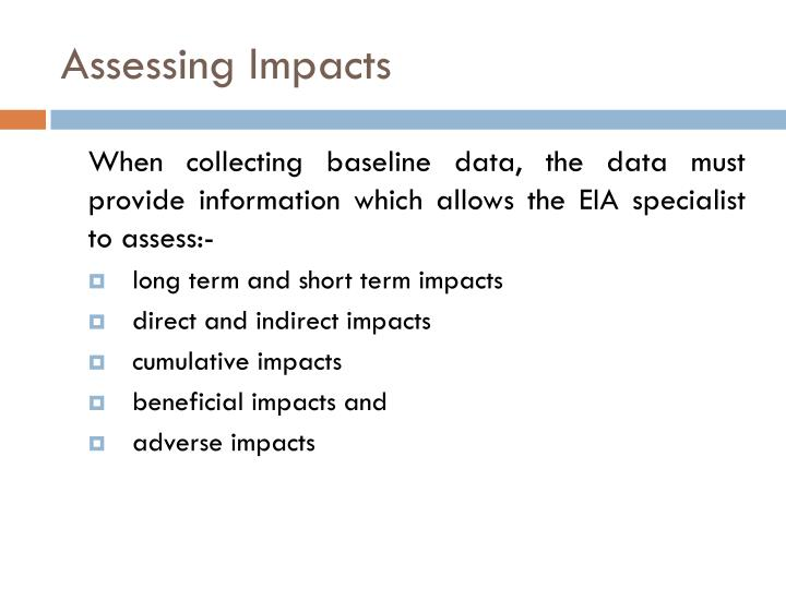 Assessing Impacts