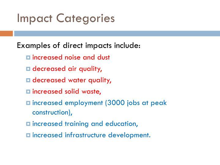 Impact Categories