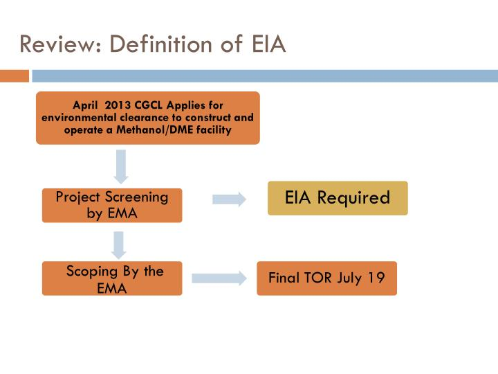 Review definition of eia