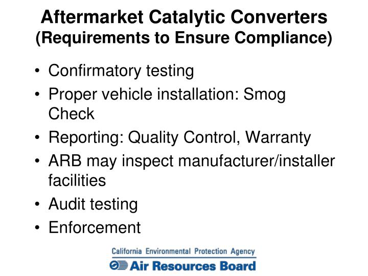 Aftermarket Catalytic Converters