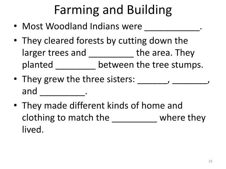 Farming and Building