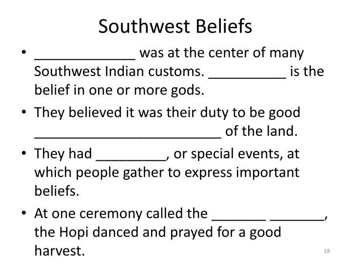 Southwest Beliefs