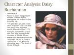 character analysis daisy buchannan