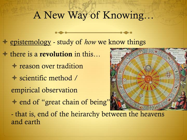 A New Way of Knowing…