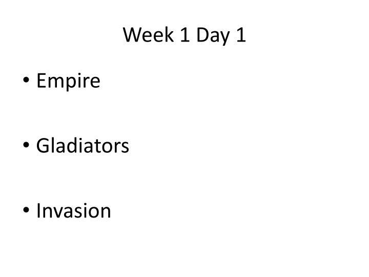 Week 1 Day 1