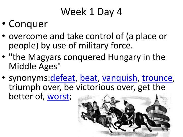 Week 1 Day 4