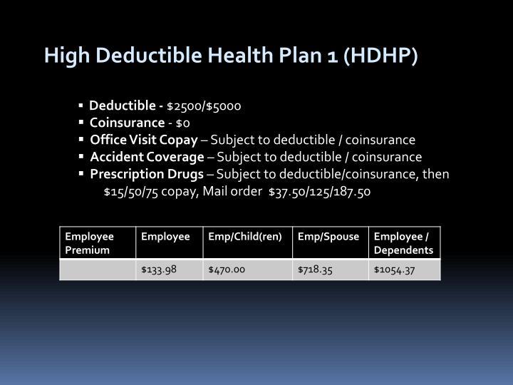 High Deductible Health Plan 1 (HDHP)