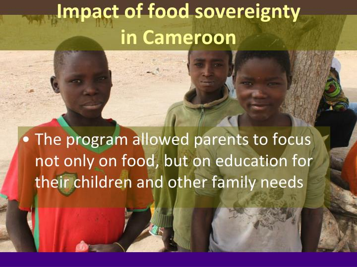 Impact of food sovereignty