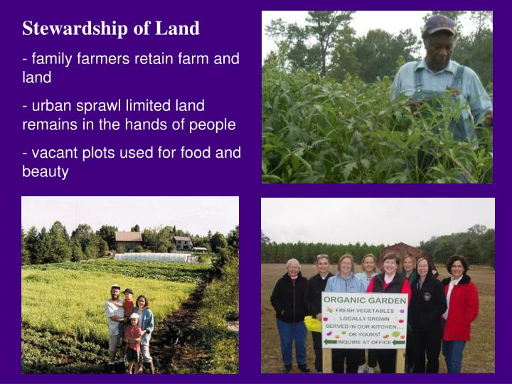Stewardship of Land