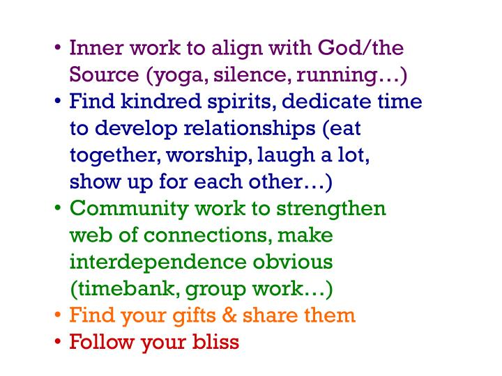 Inner work to align with
