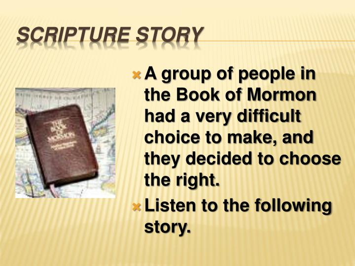 Scripture story