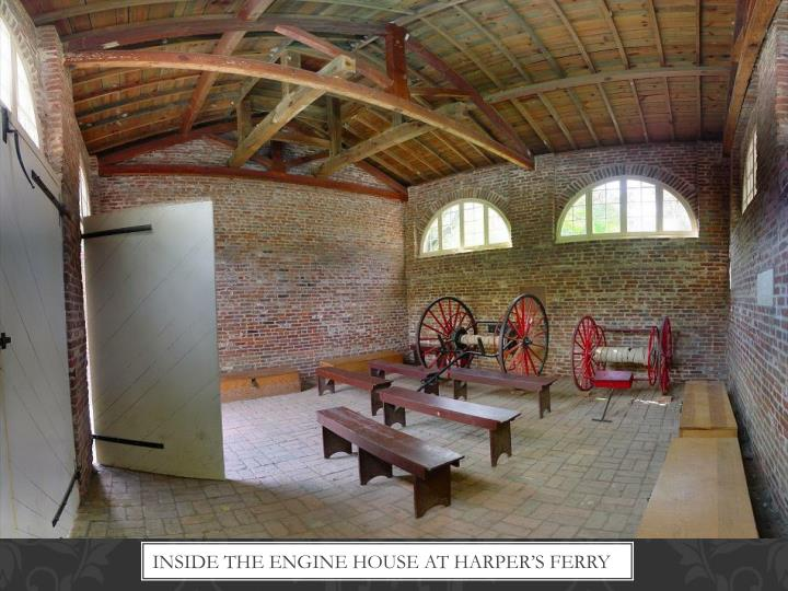 Inside the engine house at Harper's Ferry