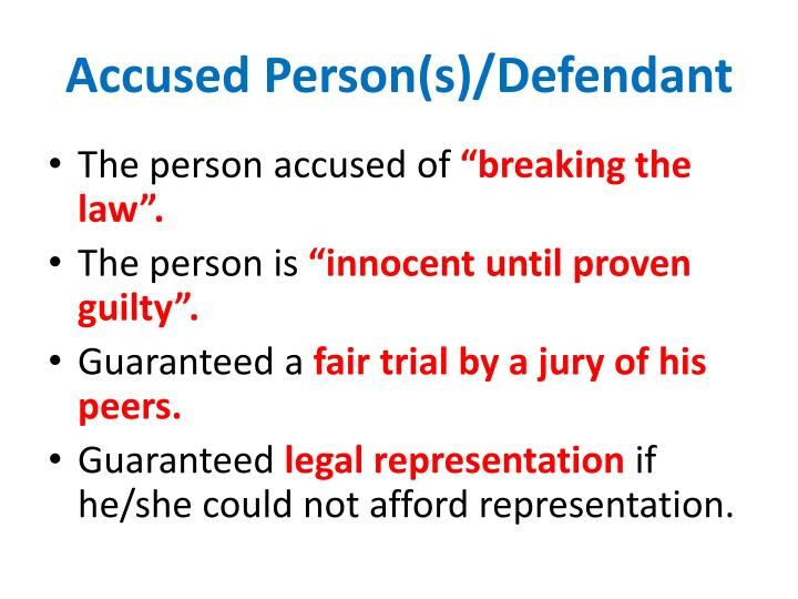 Accused Person(s)/Defendant