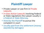 plaintiff lawyer