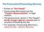 the prosecution prosecuting attorney