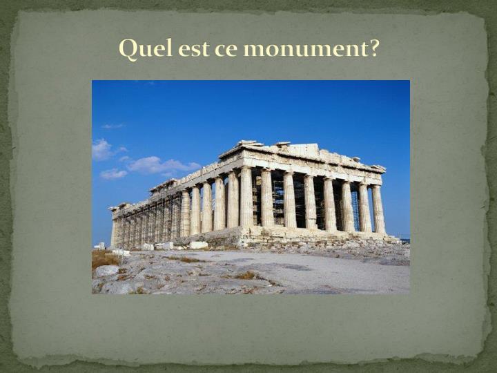 Quel est ce monument?