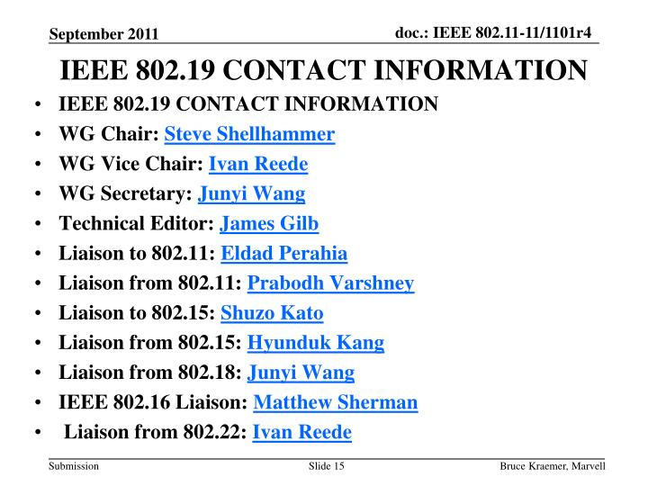 IEEE 802.19CONTACT INFORMATION