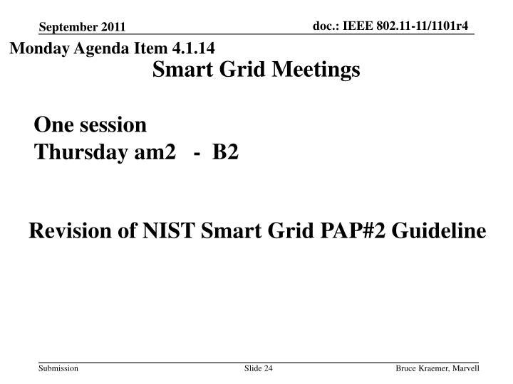 Monday Agenda Item 4.1.14