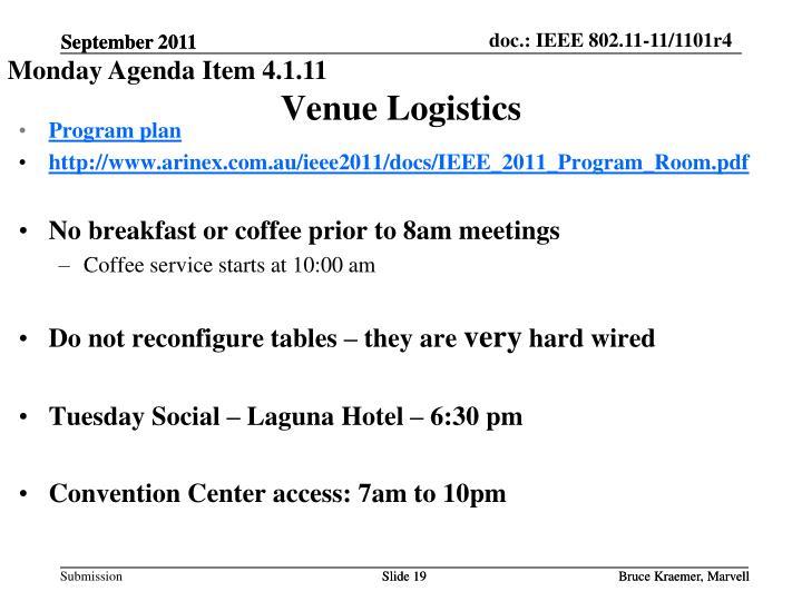 Venue Logistics