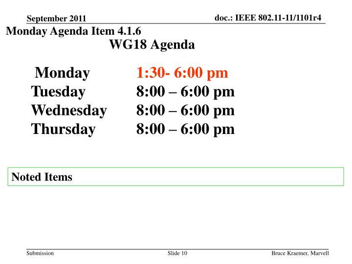 Monday Agenda Item 4.1.6