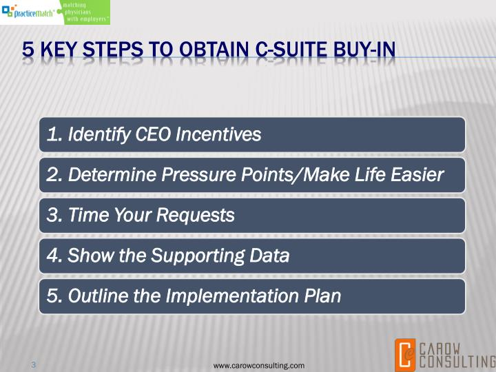 5 Key Steps to Obtain C-Suite buy-in