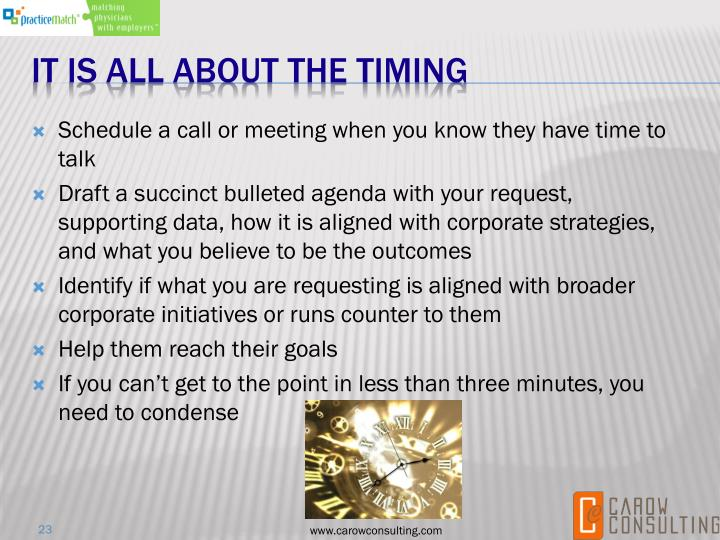 Schedule a call or meeting when you know they have time to talk