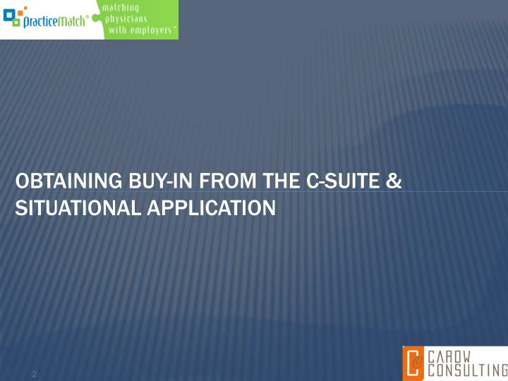Obtaining Buy-in
