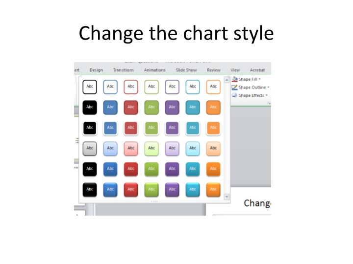 Change the chart style