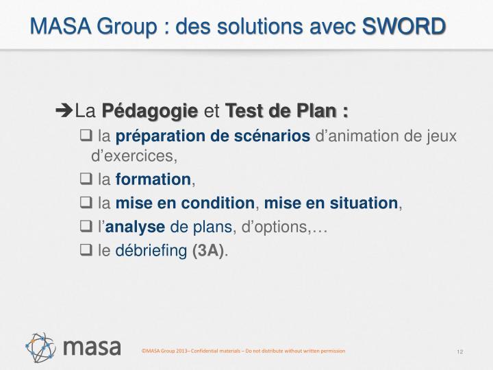 MASA Group : des solutions avec