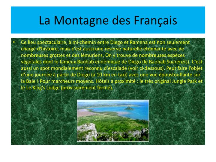 La Montagne des Français