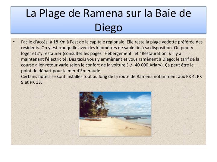 La Plage de Ramena sur la Baie de Diego