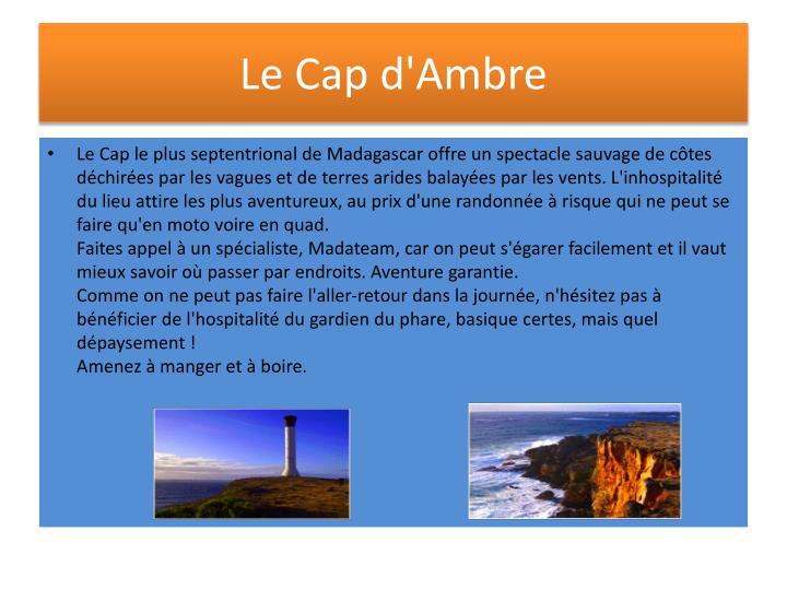 Le Cap d'Ambre