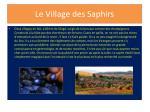 le village des saphirs
