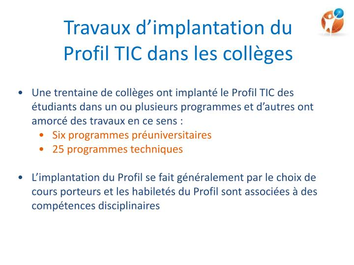 Travaux d'implantation du