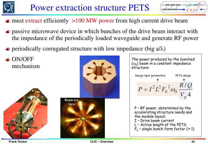 Power extraction structure PETS