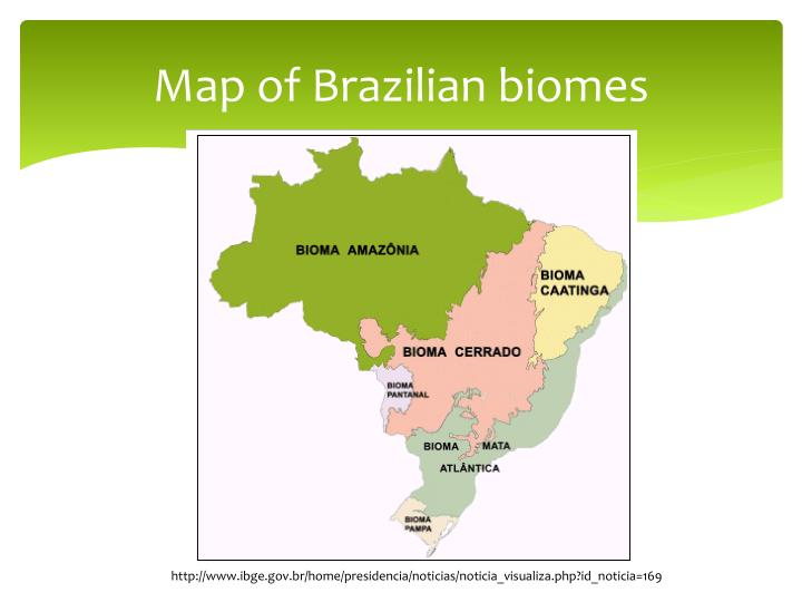 Map of brazilian biomes