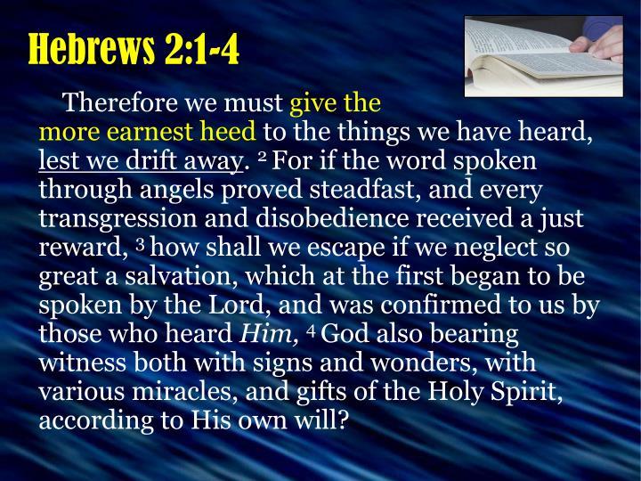 Hebrews 2:1-4