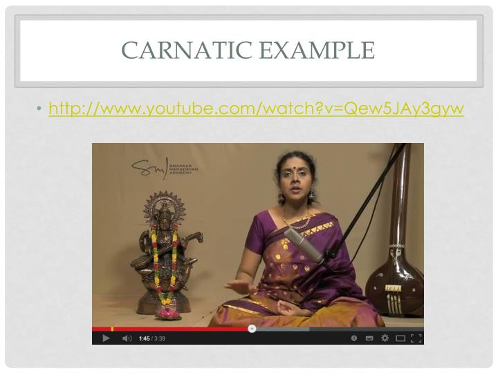 Carnatic Example