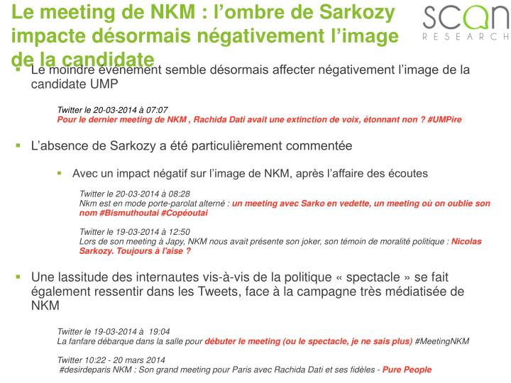 Le meeting de NKM :