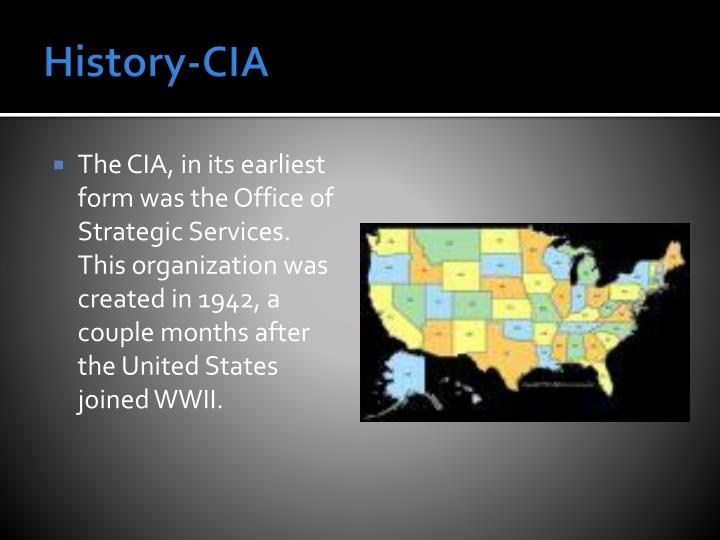 History-CIA